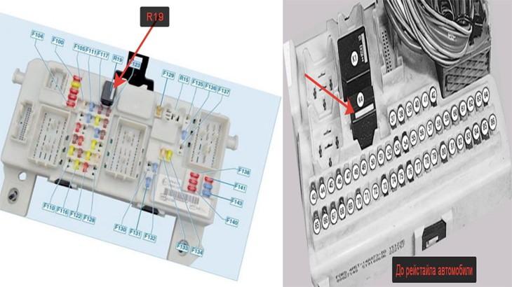 Предохранительные электрические узлы автомобиля Форд Фокус 2