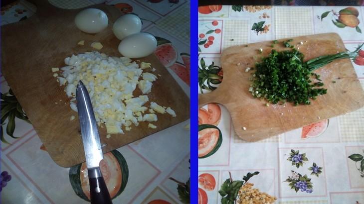 Начинка для пирожков,картофель,яйца,зеленый лук