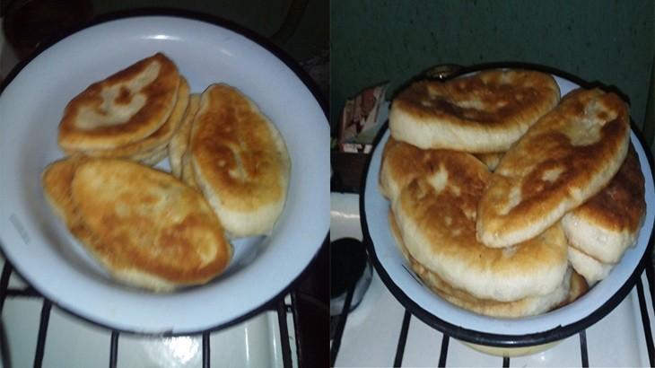 Вкусные жаренные пирожки с картошкой,яйцами и зеленым луком
