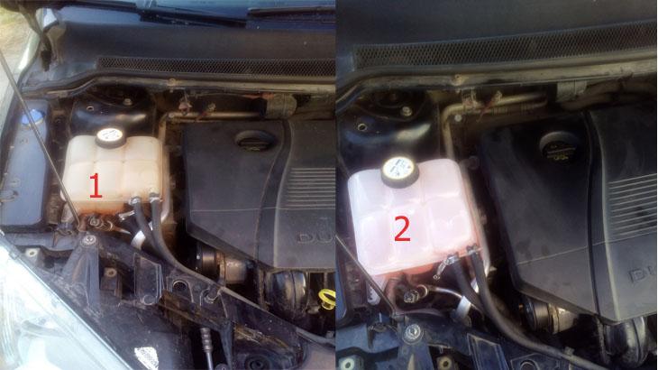 Замена расширительного бачка — Ford Fokus 2  SEDAN. 2.0 л