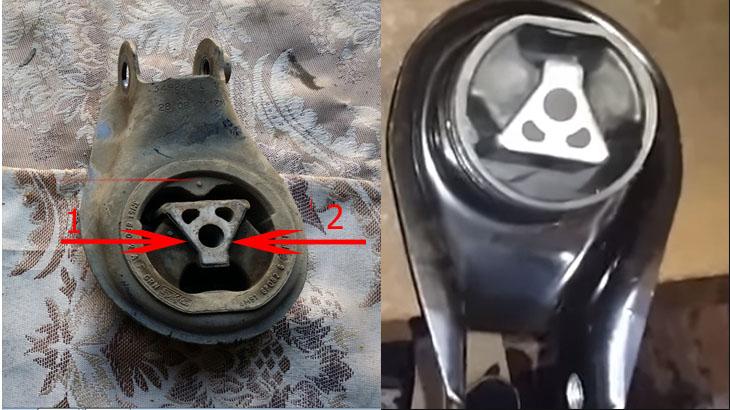 Две нижние опоры двигателя ФФ2