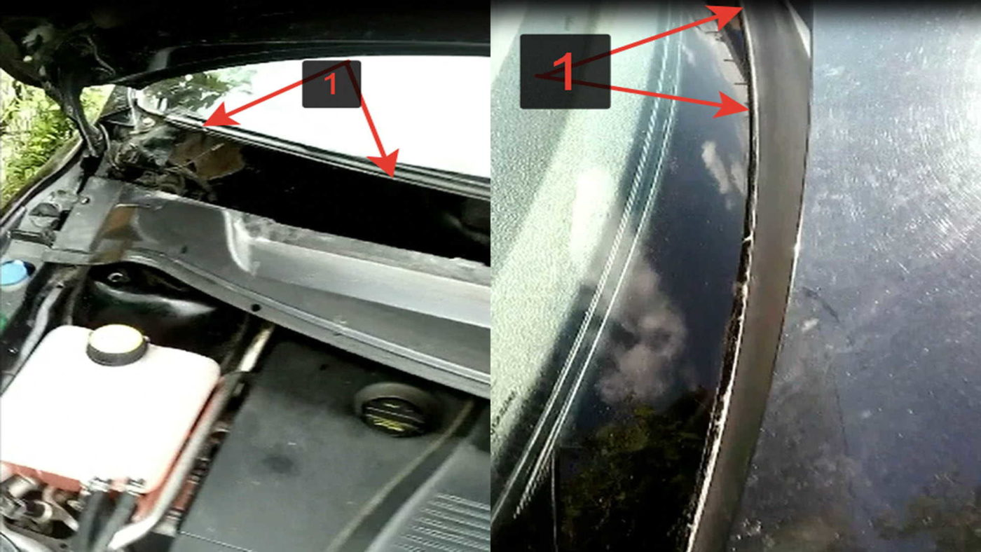 Отошел пластик от лобового стекла автомобиля Форд Фокус 2 с фото и видео