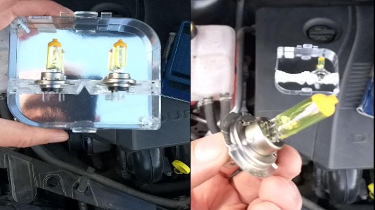 Замена лампочек ближнего и дальнего света на автомобиле Форд Фокус 2