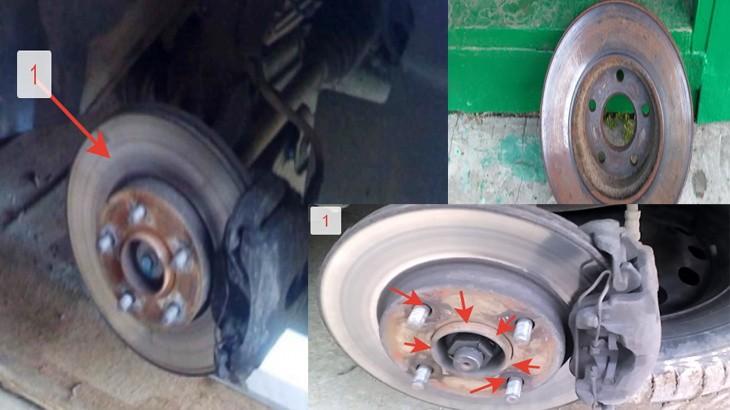 Старые тормозные диски автомобиля Форд Фокус 2