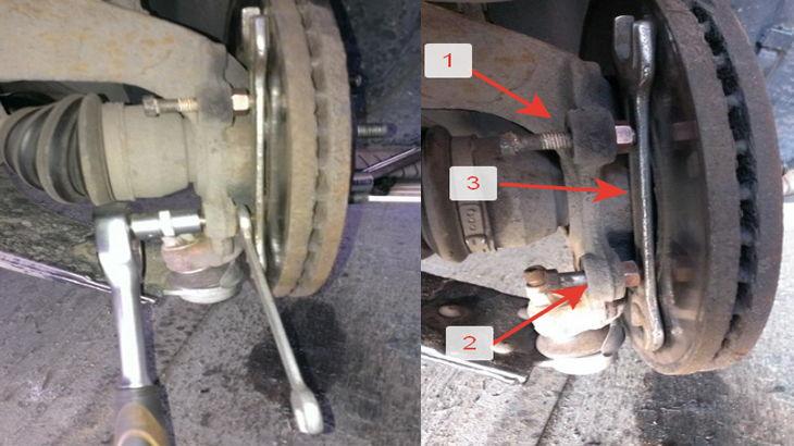 Отжатие прикипевшего переднего тормозного диска на автомобиле