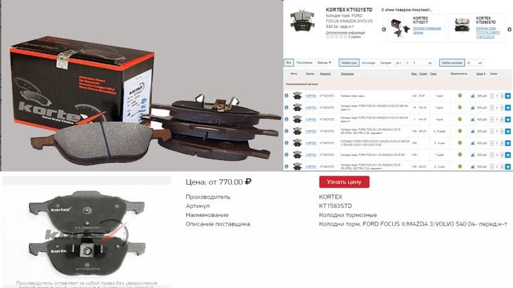 Передние тормозные колодки для автомобиля ФФ2,стоимость колодок