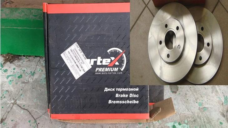 Замена передних тормозных дисков на  Форд Фокус 2