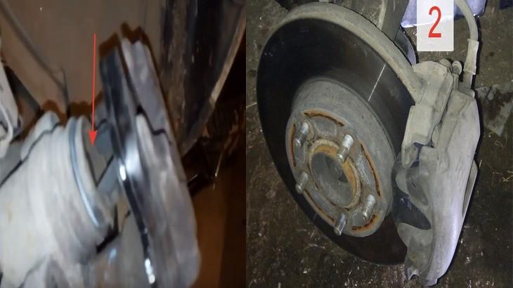 Ставим внутреннюю тормозную колодку и надеваем нашу верхнюю часть тормозного суппорта