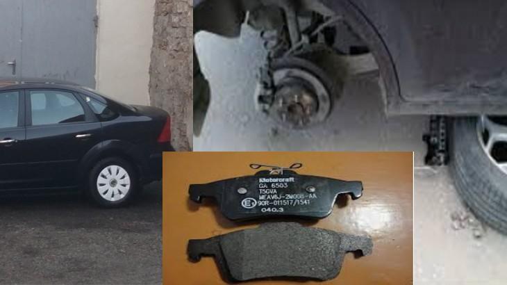Автомобиль Форд Фокус 2,замена задних тормозных колонок