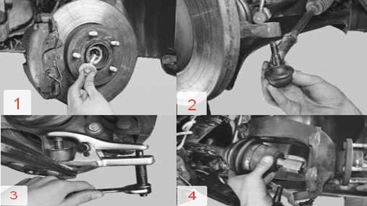 Снятие переднего левого привода с автомобиля Форд Фокус 2