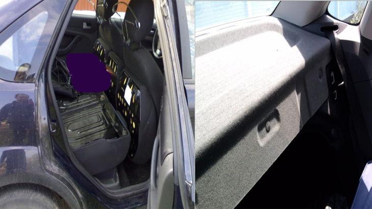 Откинутые сиденья в автомобиле