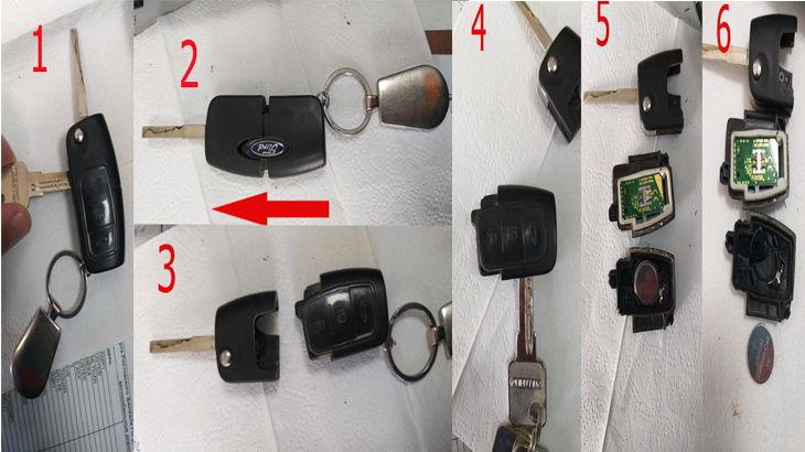 Замена батарейки или элемента питания в ключе зажигания автомобиля Форд Фокус 2