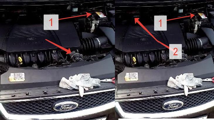 АКБ автомобиля,крышка двигателя автомобиля