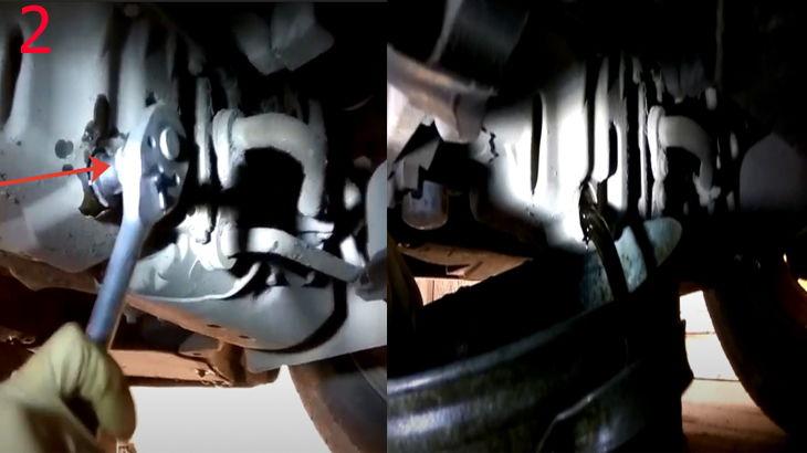Откручиваем сливную пробку с картера двигателя автомобиля и сливаем отработанное масло с двигателя