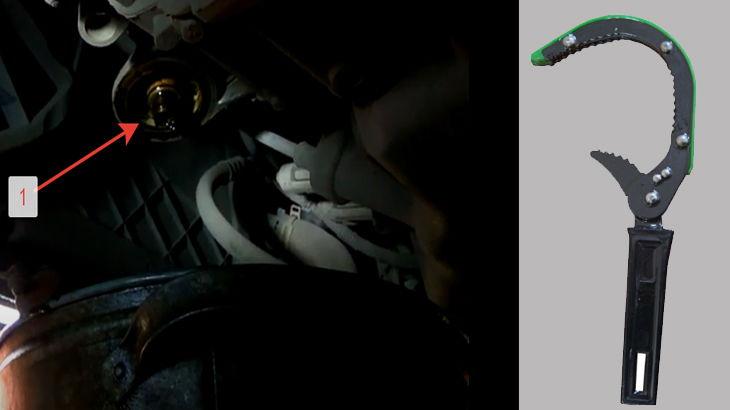 Посадочное место под масляный фильтр автомобиля и устройство для лткручивания масляных фильтров